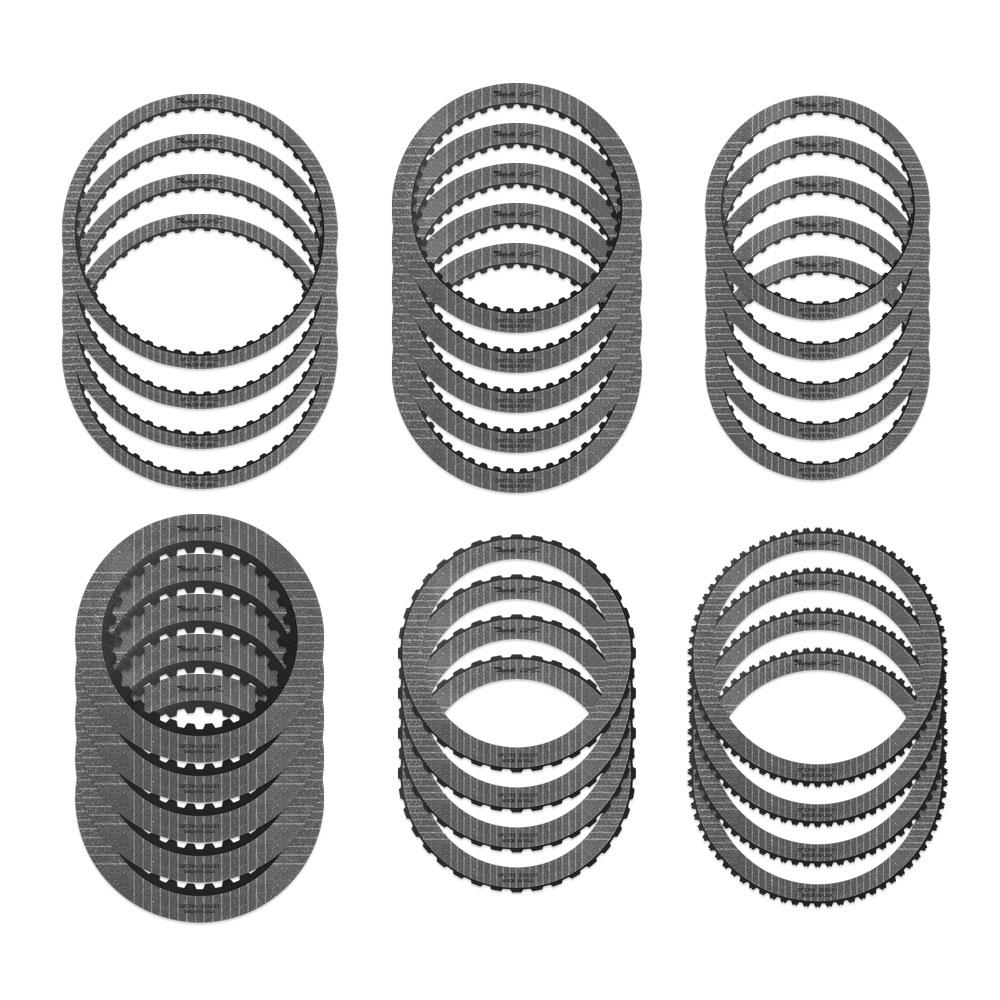 (4) GPZ780 A Brake, (5) GPZ755 B Brake, (5) GPZ756 C Clutch, (5) GPZ781 D Clutch, (4) GPZ782 E Clutch, (4) GPZ759 F Clutch (Use with 6.2, 7.3 Ltr gas steel module STMFORD24)
