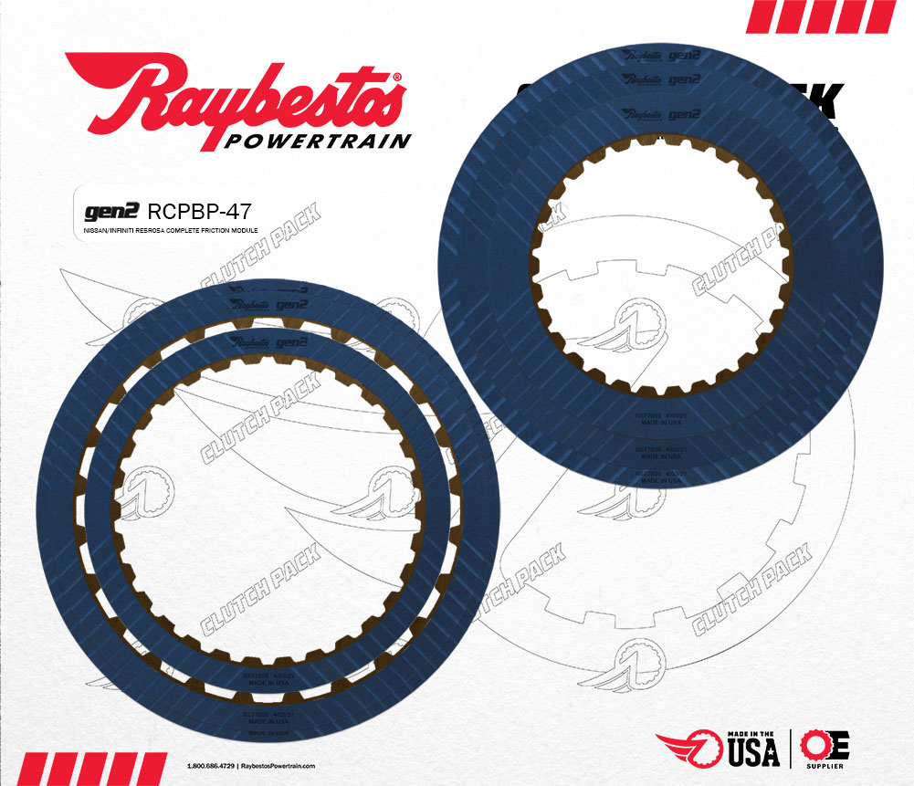 RE5R05A V6 Gen2 Blue Performance Friction Clutch Pack