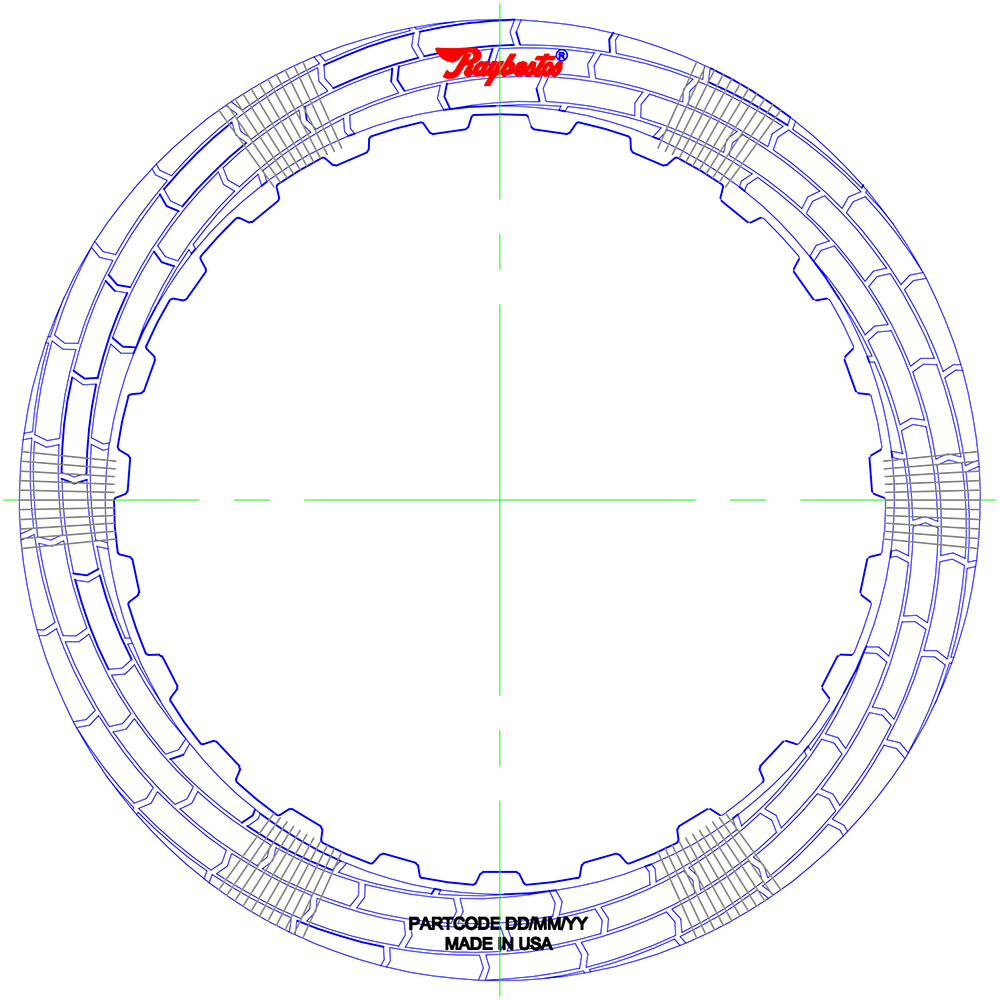 8L90 HT Friction Clutch Plate