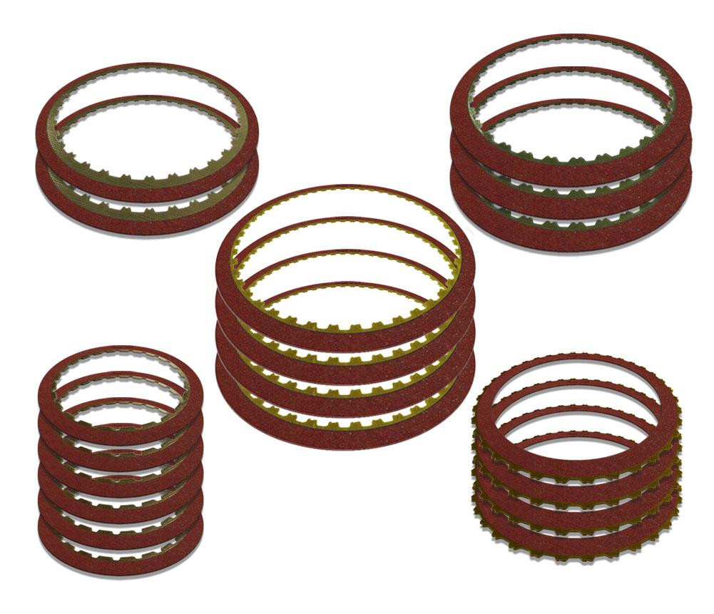 (6) R600996 4-5-6, (4) R600997 3-5 Reverse, (4) R600998 Low Reverse, (3) R600999 2-6, (2) R6001000 1-2-3-4