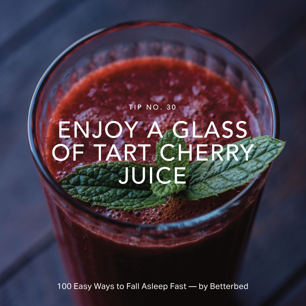 Enjoy a glass of tart cherry juice