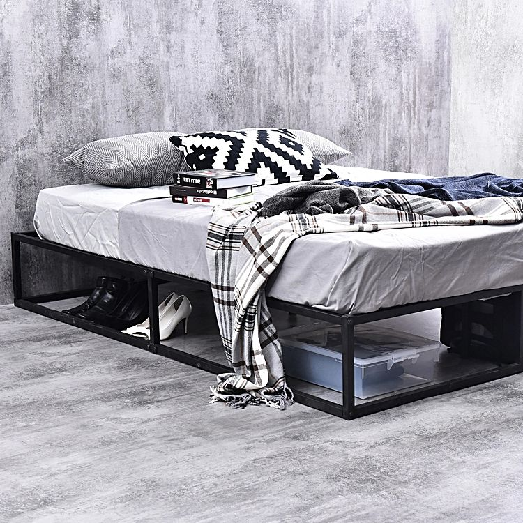 Emma's Design Kyoto queen bed base with Mattress in concrete room