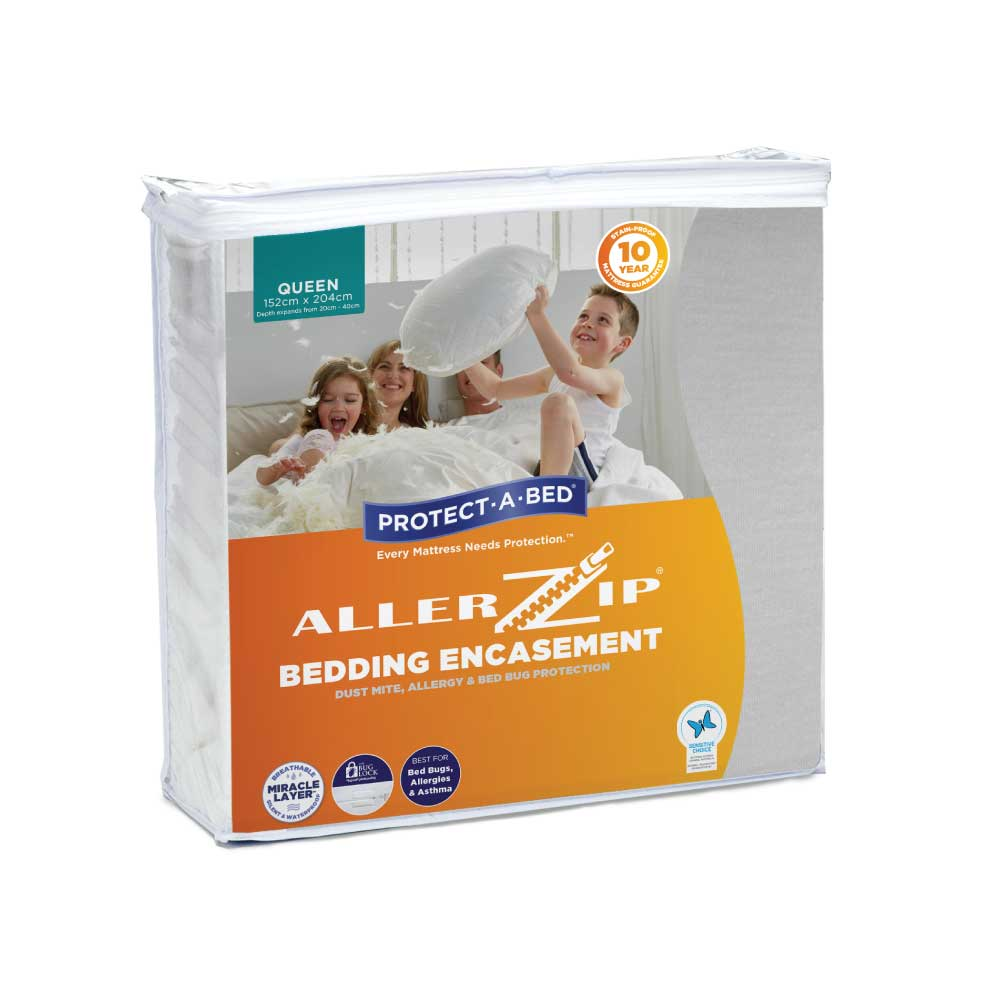 Protect-A-Bed Allerzip Smooth Anti-Allergy Fully Encased Waterproof Mattress Protector