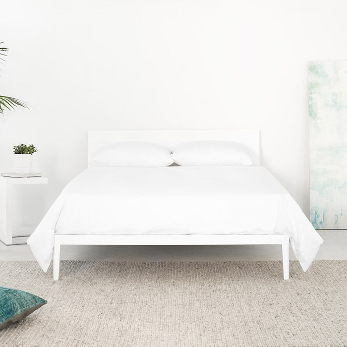 Noa Sunrise Bed frame in white