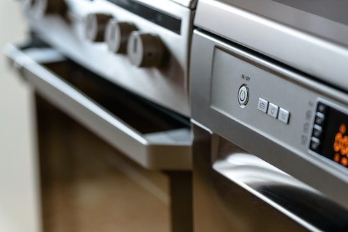 Image of a stainless steel oven preheating to cook thyroid healthy recipe