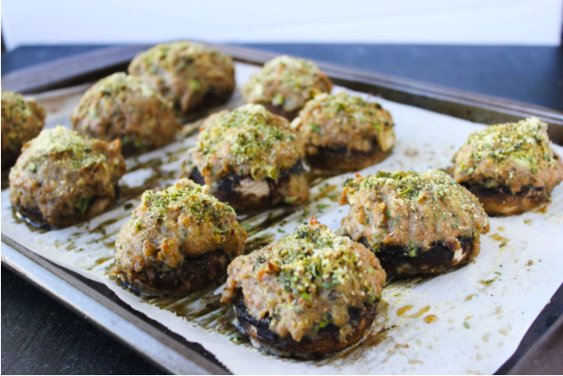 "Thyroid Recipe: ""Cheesy"" Italian Sausage Stuffed Mushrooms"