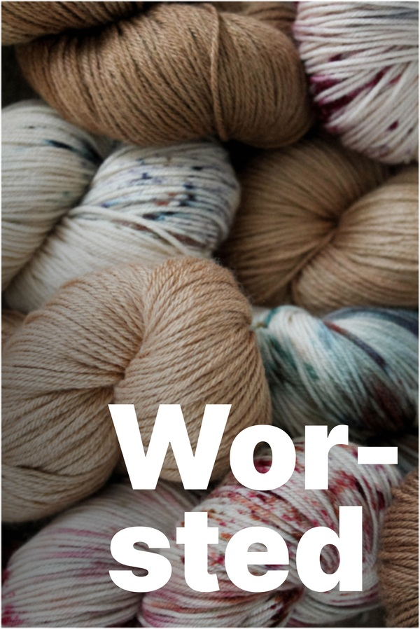 Worsted weight yarn in speckled and natural hues