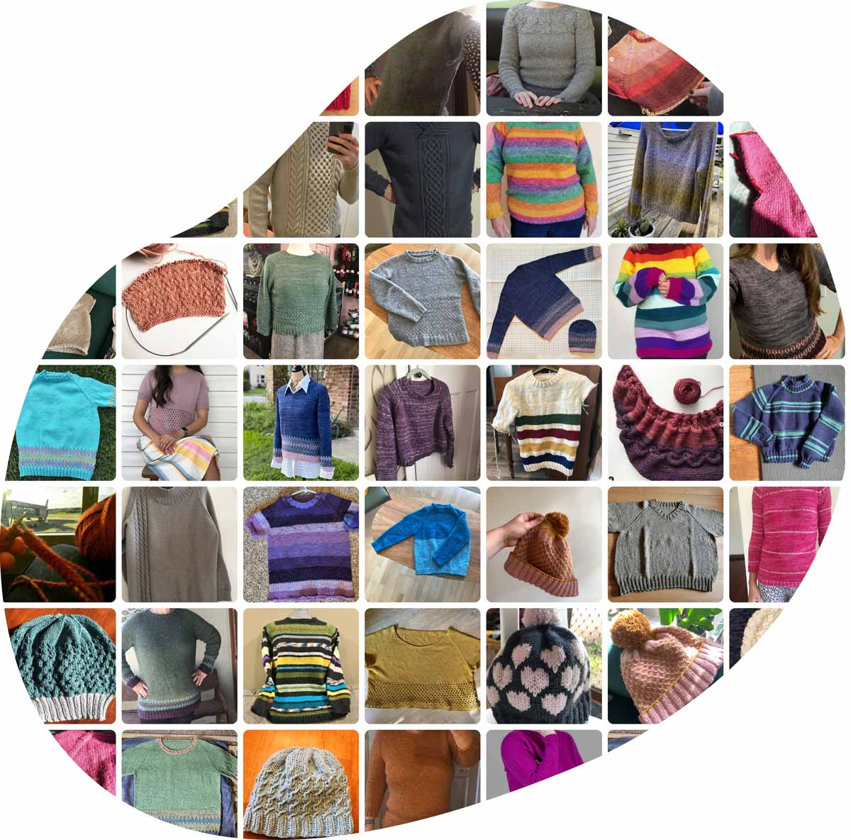 Shaped Collage of Bellish Knits