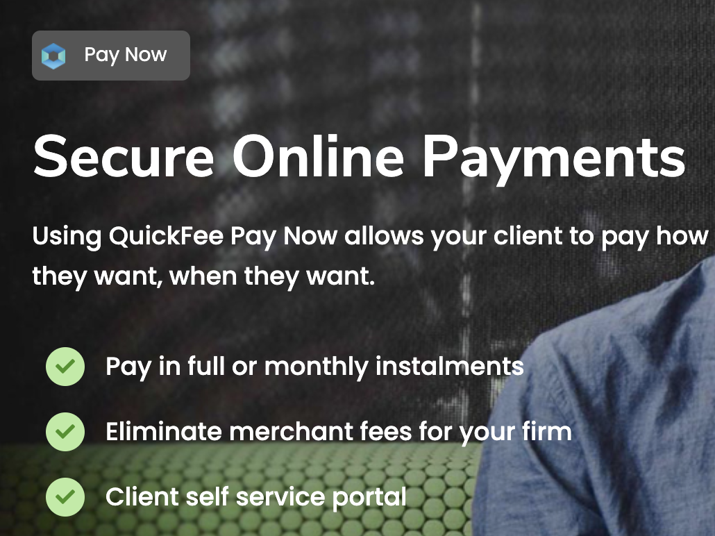 Pay your legal professional fees + disbursements via monthly instalments