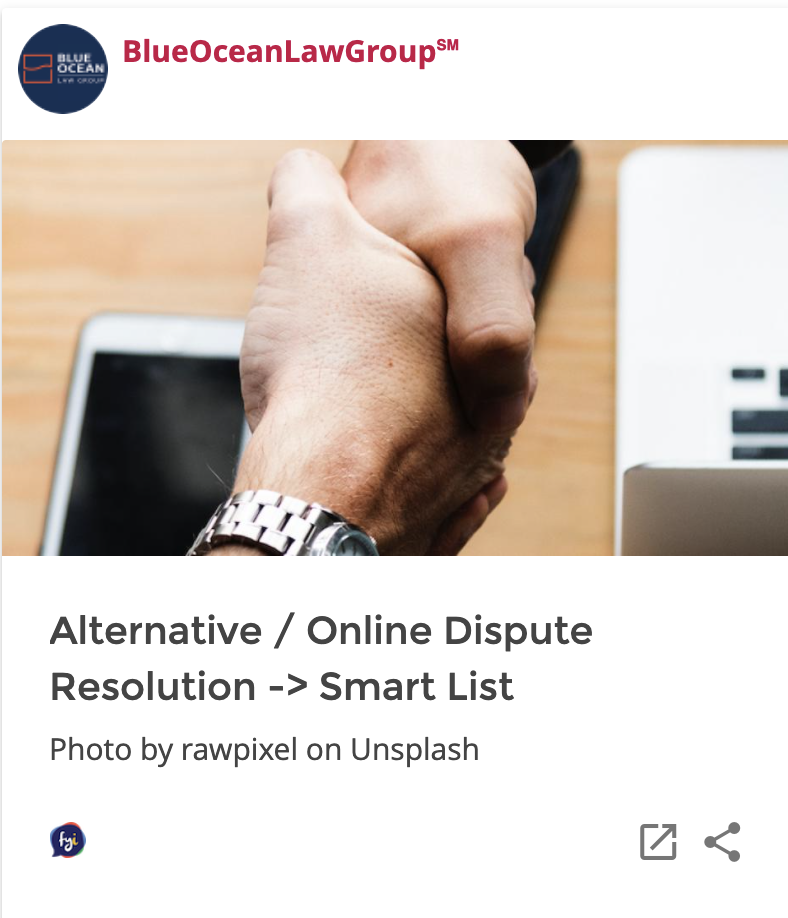 Alternative / Online Dispute Resolution Smart List