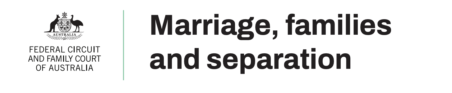 Marriage, families and separation