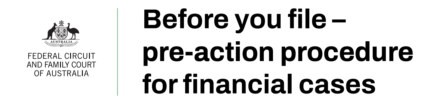 Before you file pre-action procedures for financial cases