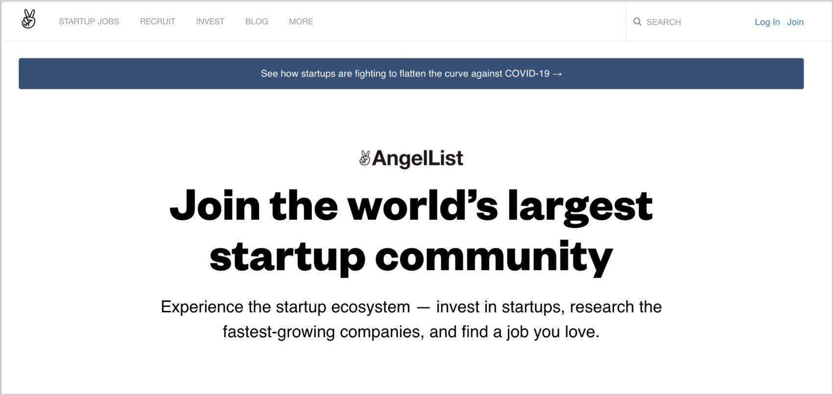 AngelList - חיפוש משקיעים