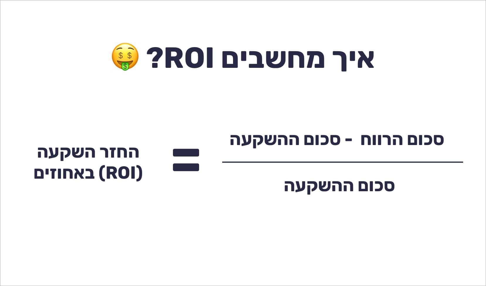 מזה ROI ואיך מחשבים אותו