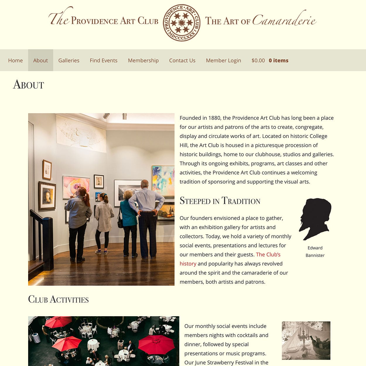 Providence Art Club About Page