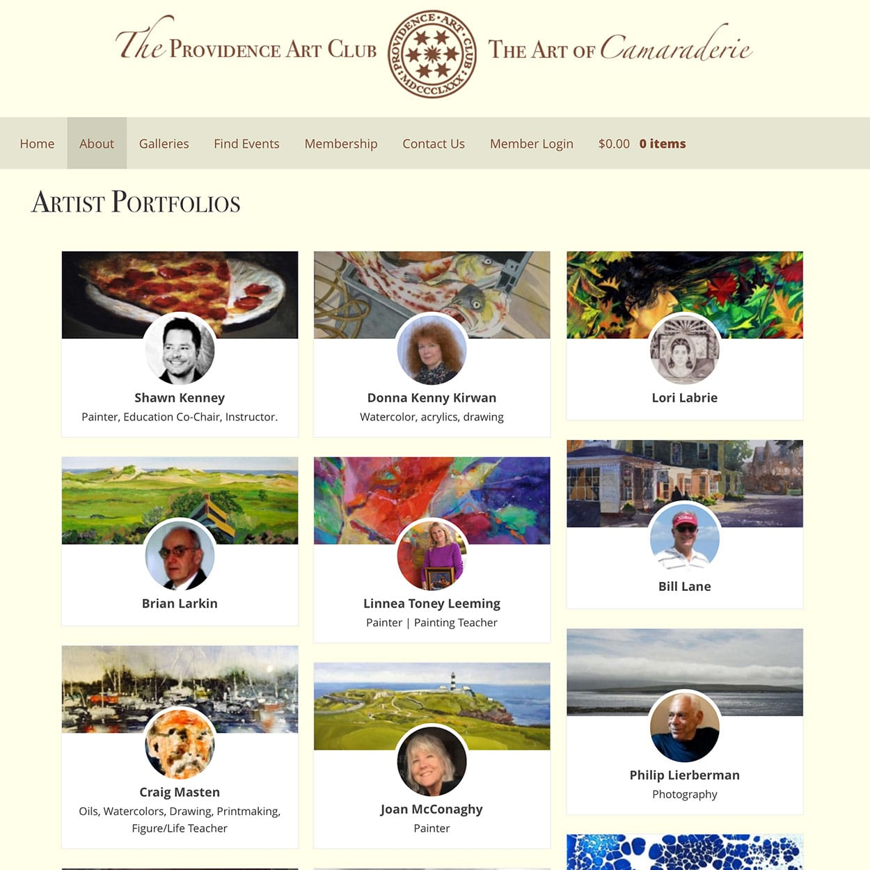 Providence Art Club Artists' Page