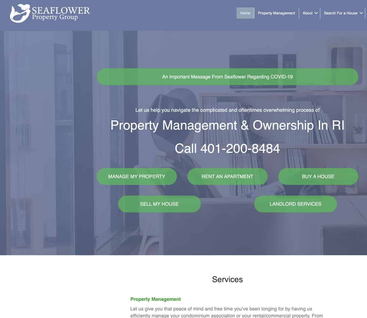Seaflower Property homepage