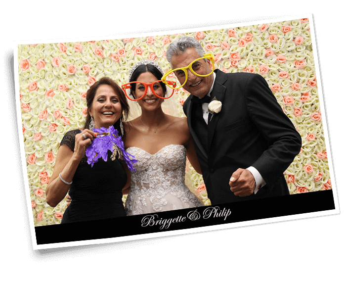 wedding photo booth flower wall backdrop