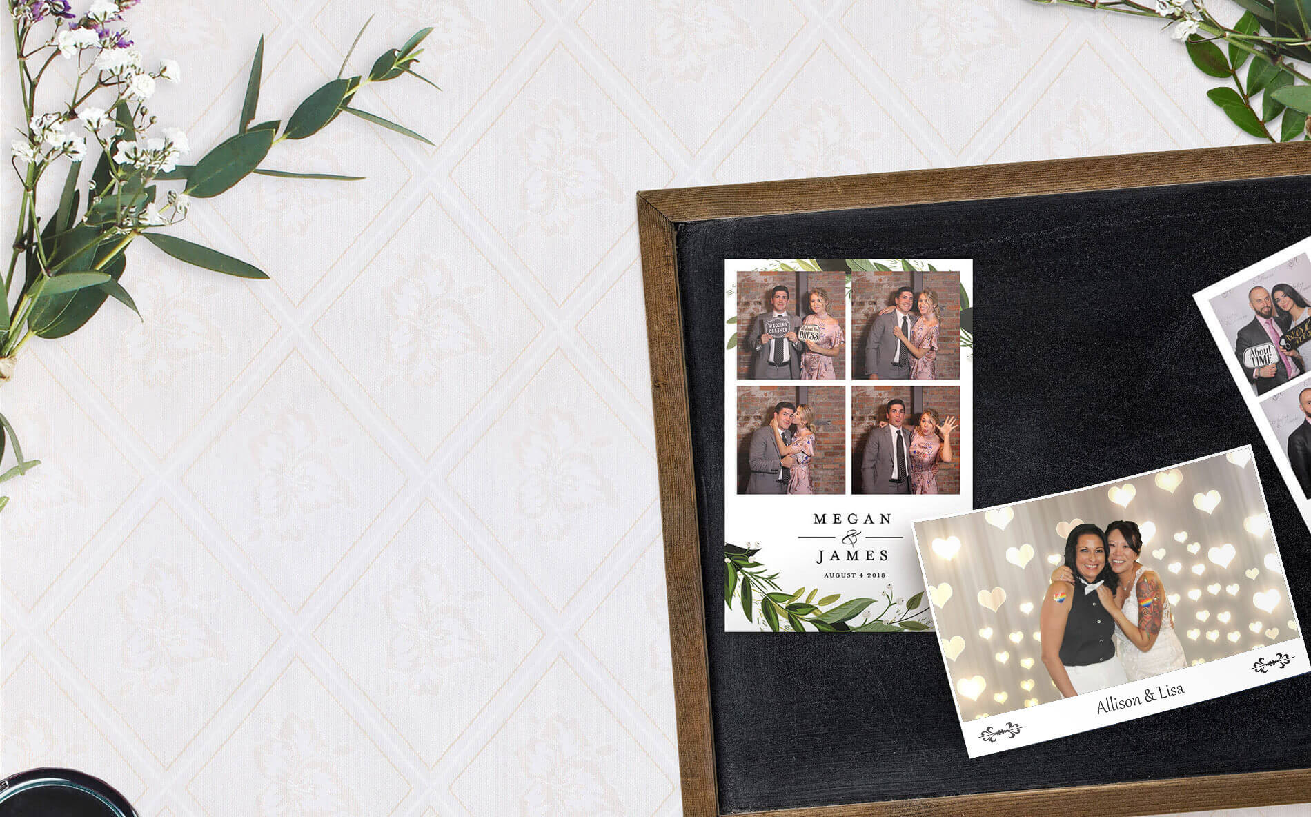 photo booth wedding collage photo