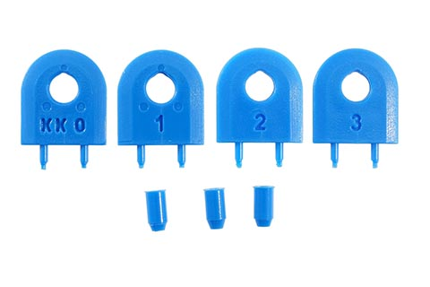 MJ SPLITTER Replacement SteelPro Kerf Keepers (Blue)