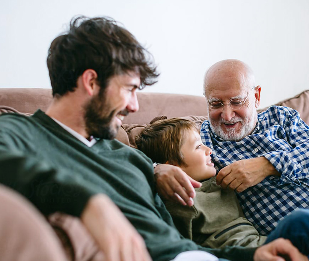 Three Generations of Men Enjoying Quality Time - Here Business & Wealth