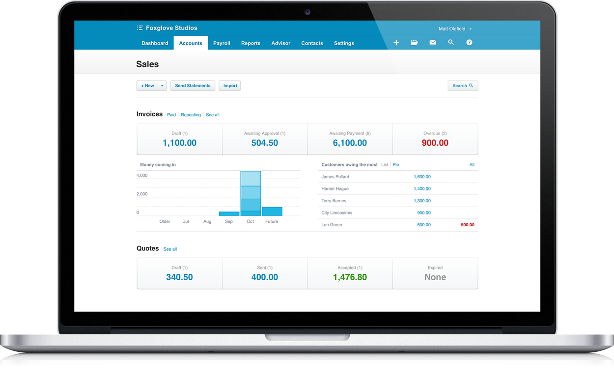 Xero Online Portal - Here Business & Wealth