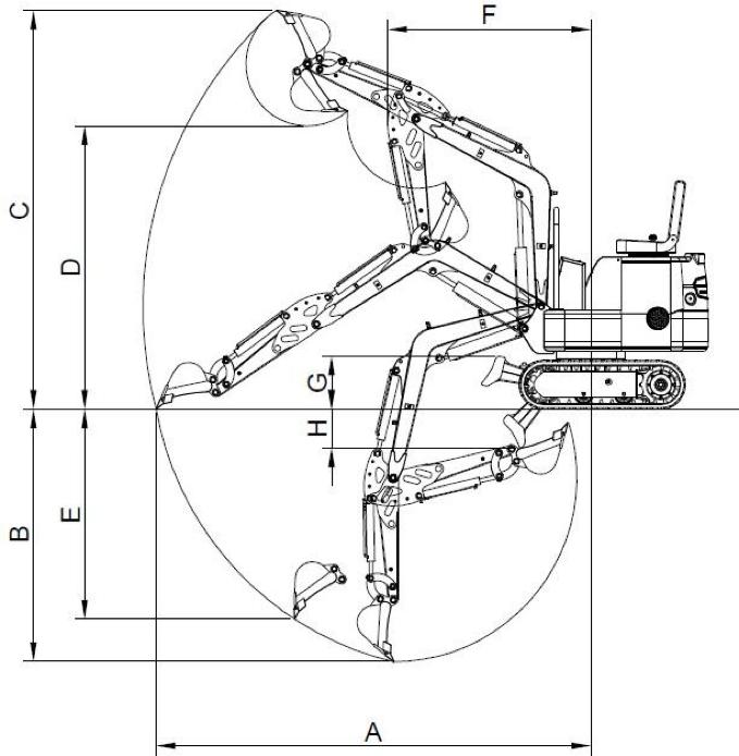 diagramma Miniescavatore XN12