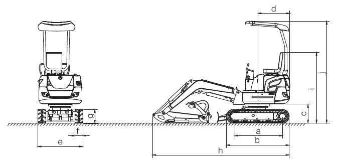 schematico Miniescavatore XN18