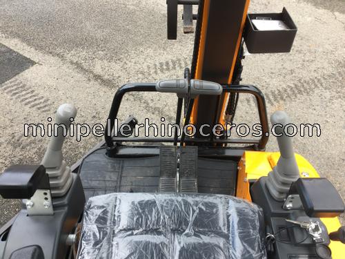joysticks mini excavator