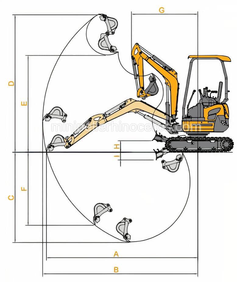 drawing Mini Excavator XN20