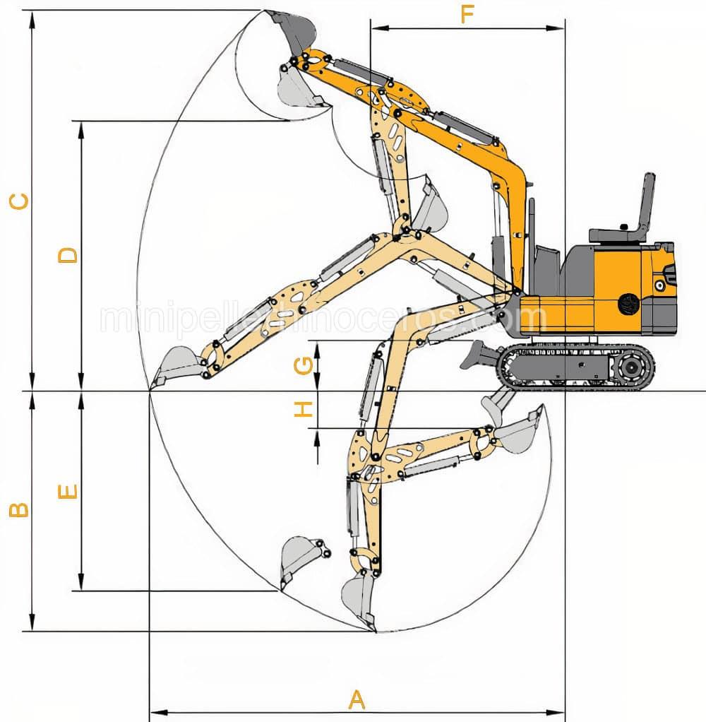 TECHNICAL SKETCH  Mini EXCAVATOR XN12