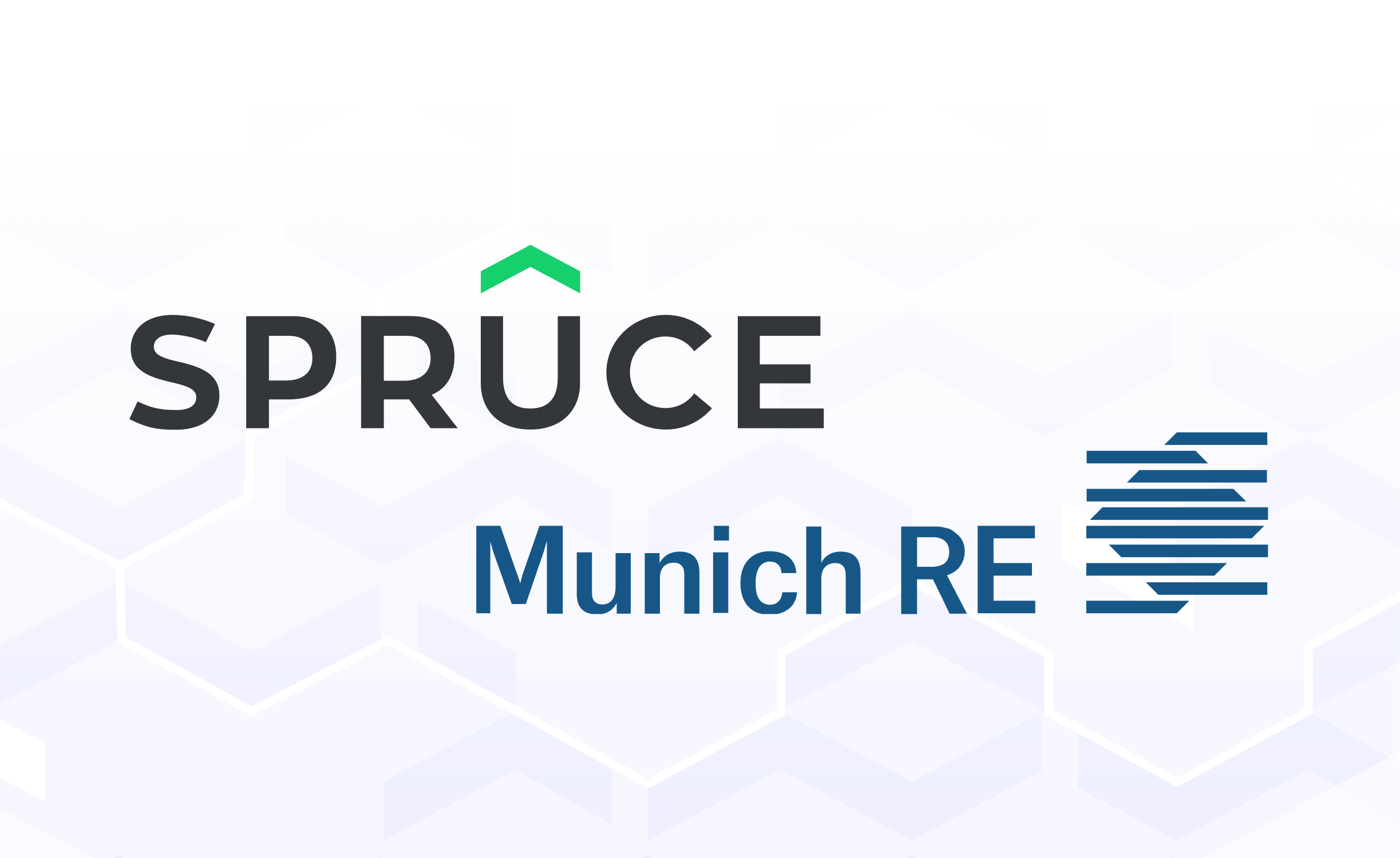 Banner with Spruce and Munich Re logos