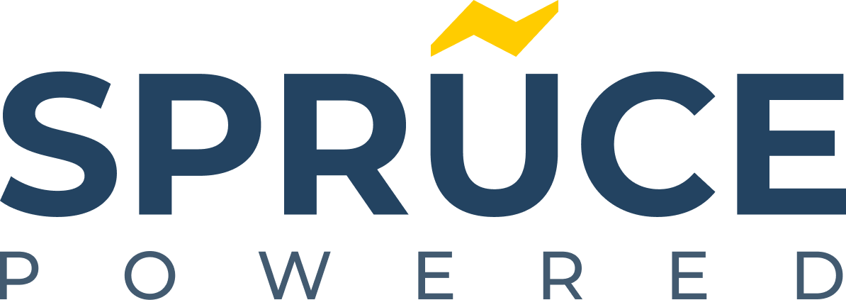 SprucePowered Logo with lightning bolt