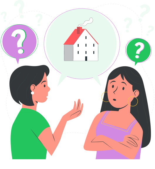 Two women discussing home closing costs