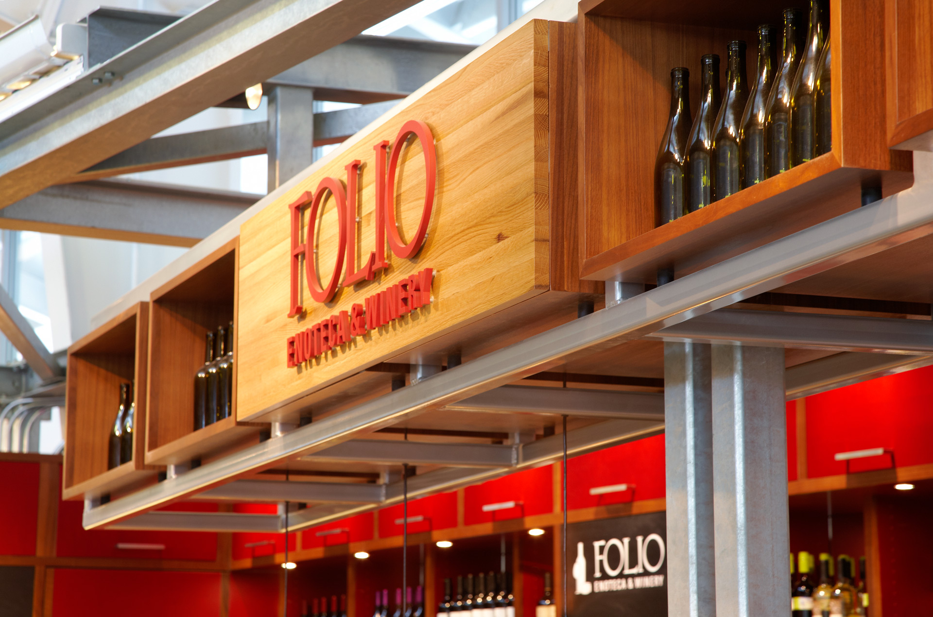 Folio Enoteca & Winery restaurant decor