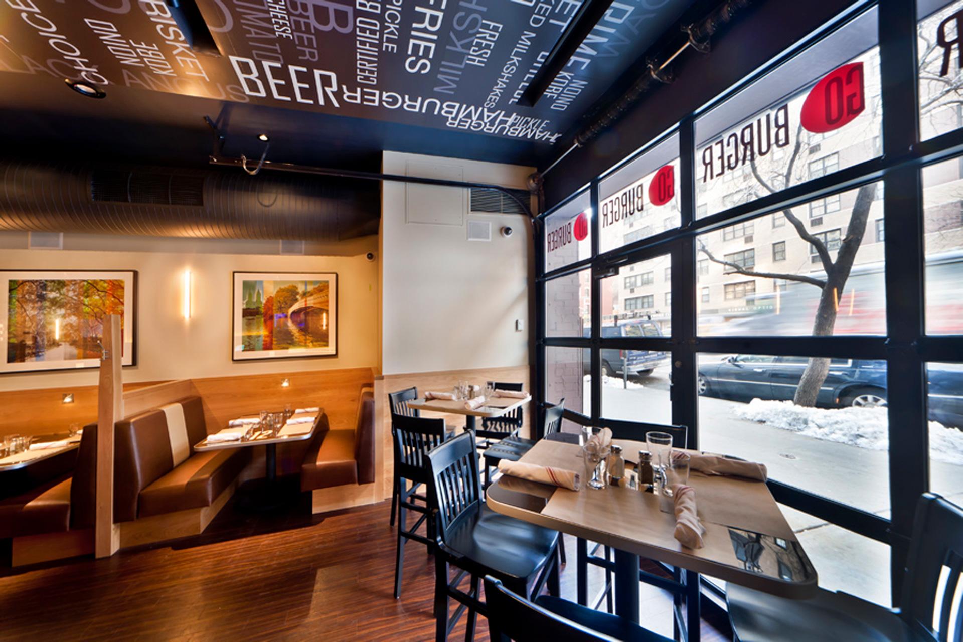 GO Burger NY restaurant decor