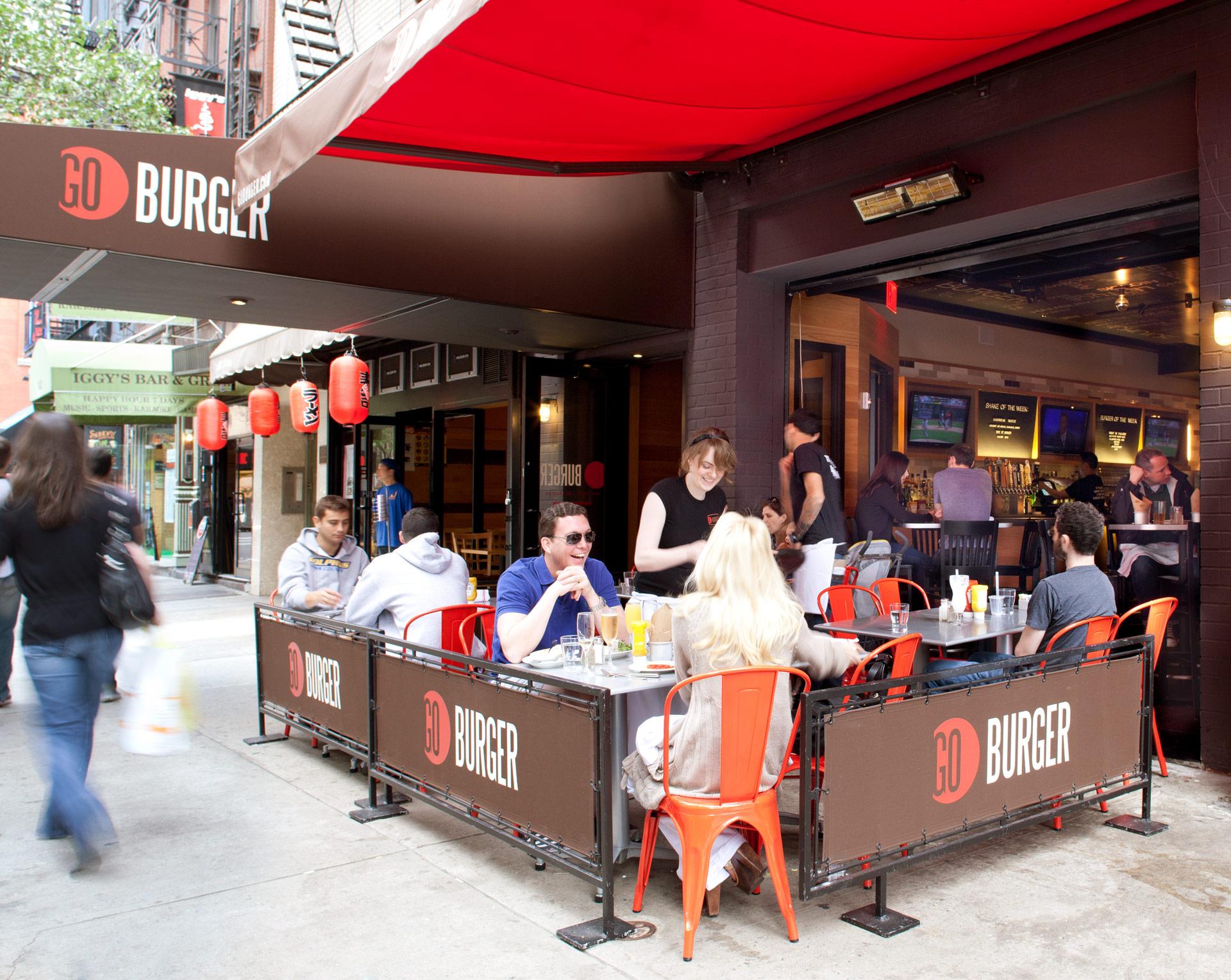 GO Burger NY restaurant interiors