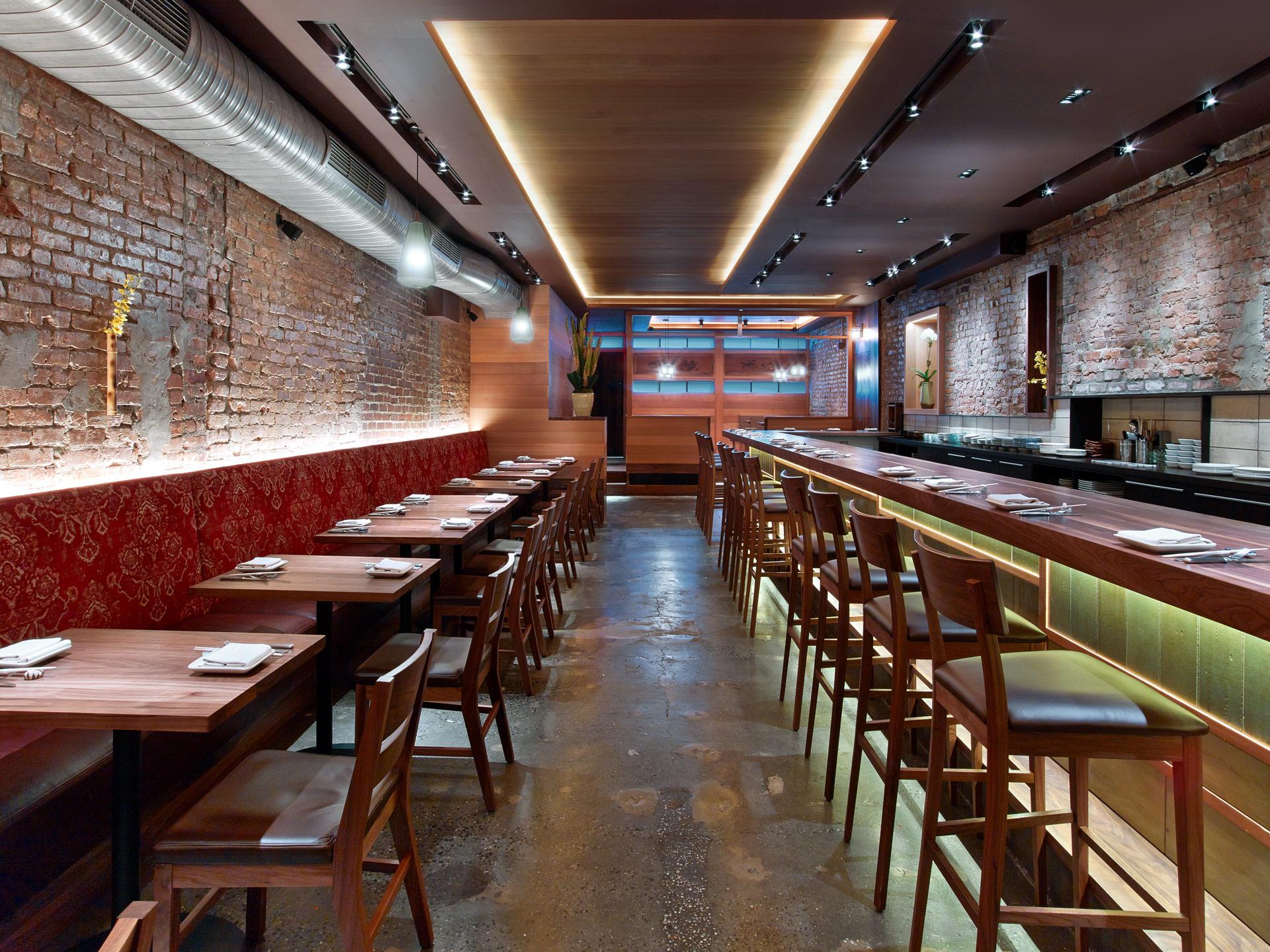 O Ya restaurant decor