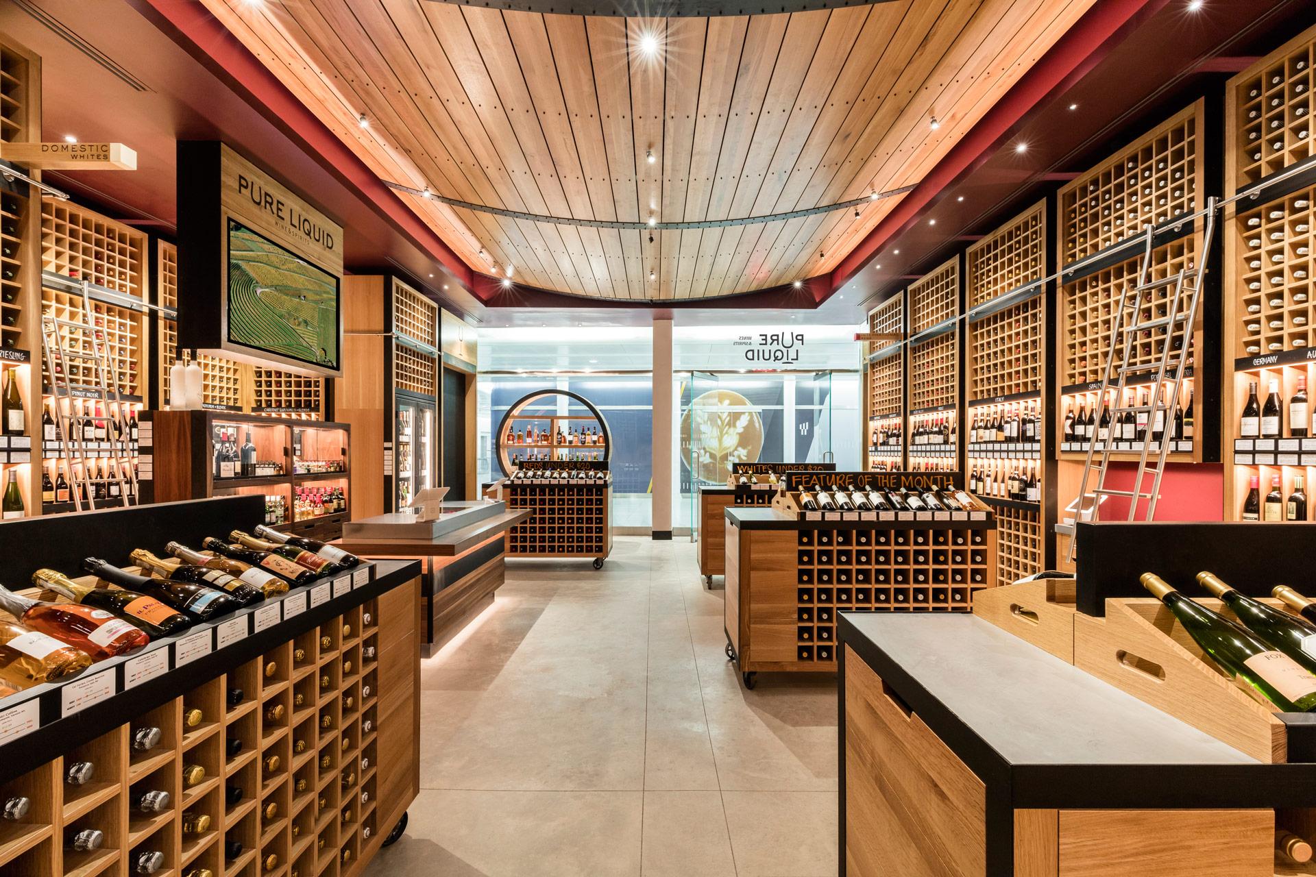 Pure Liquid Wine & Spirits retail store design