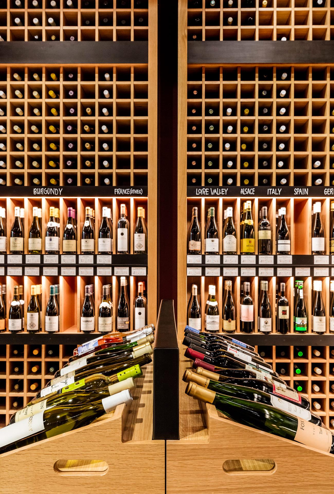 Pure Liquid Wine & Spirits retail store decor