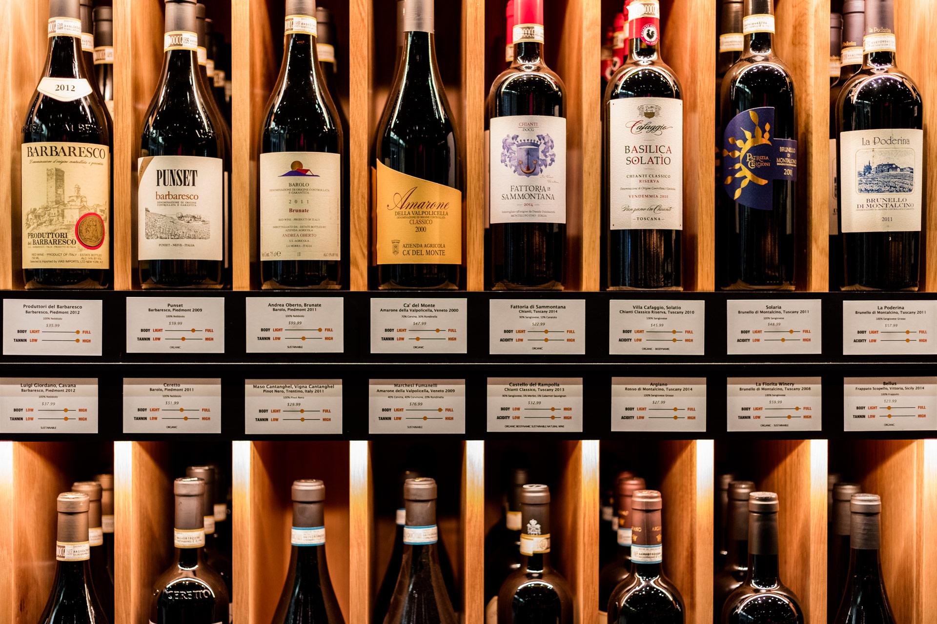 Pure Liquid Wine & Spirits retail store designer
