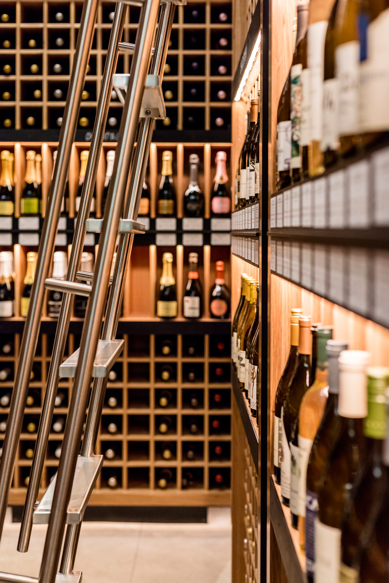 Pure Liquid Wine & Spirits retail store interior design