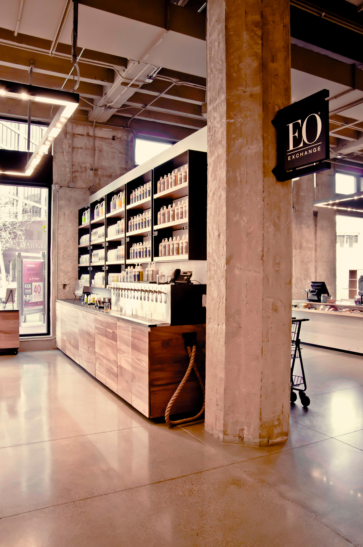EO at the Market retail store interiors
