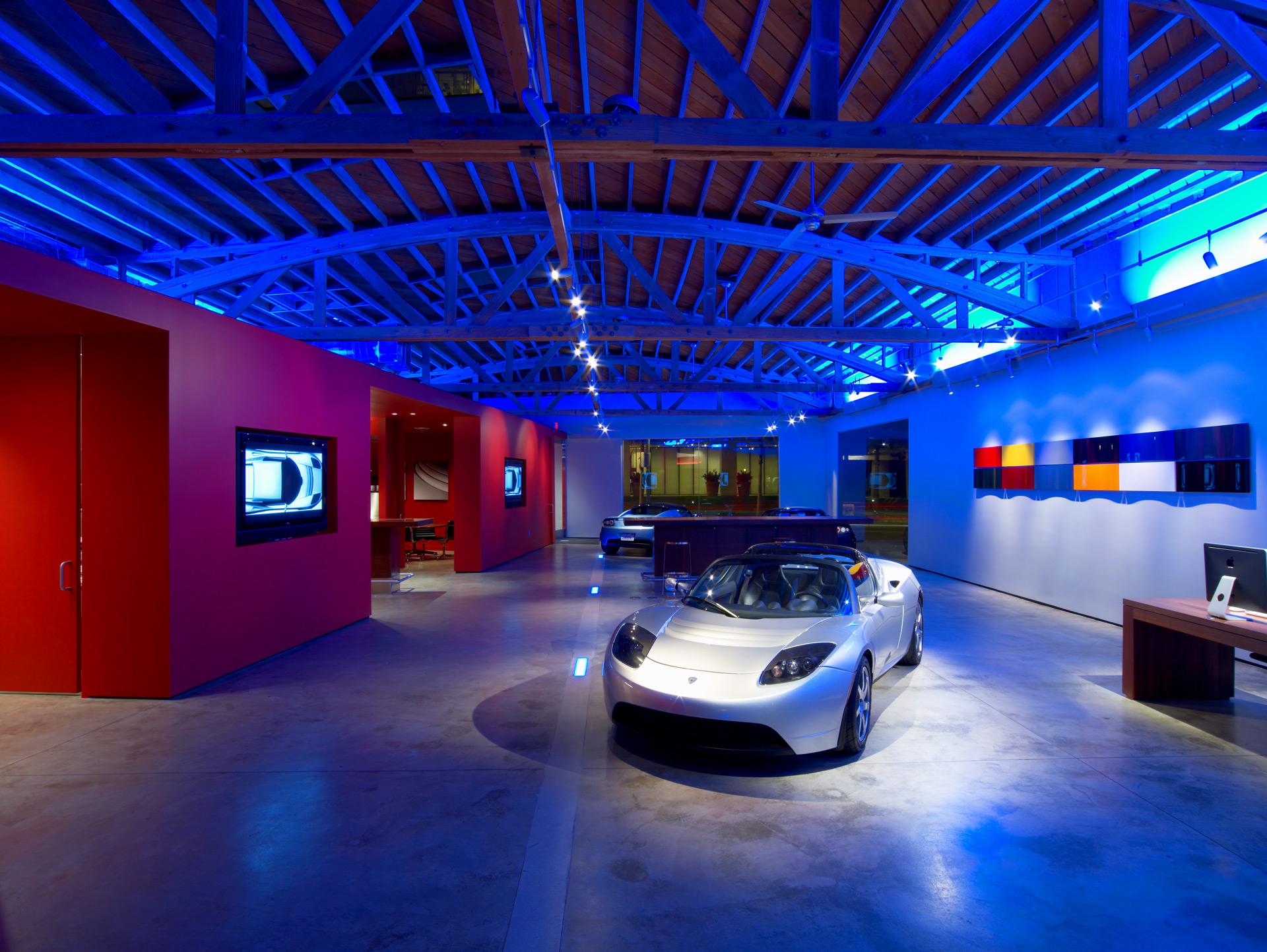 Tesla Showroom retail store designer