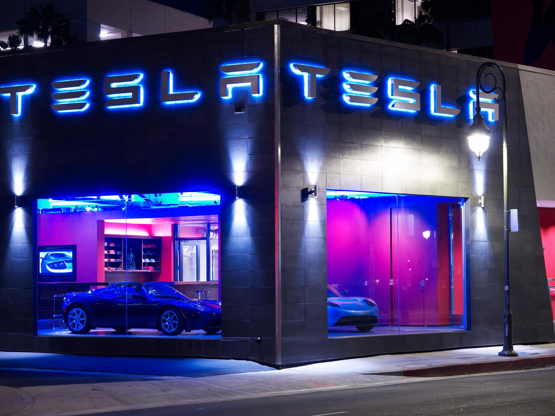 Tesla Showroom retail store decor ideas