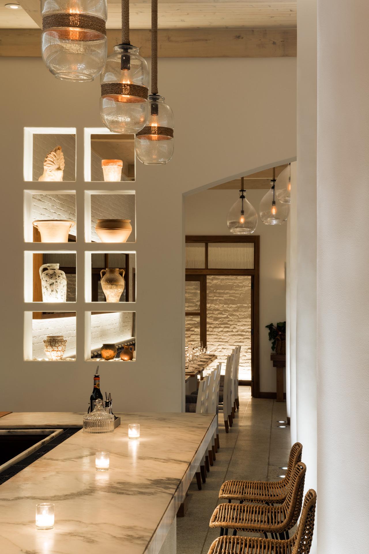 Kyma restaurant interiors architecture