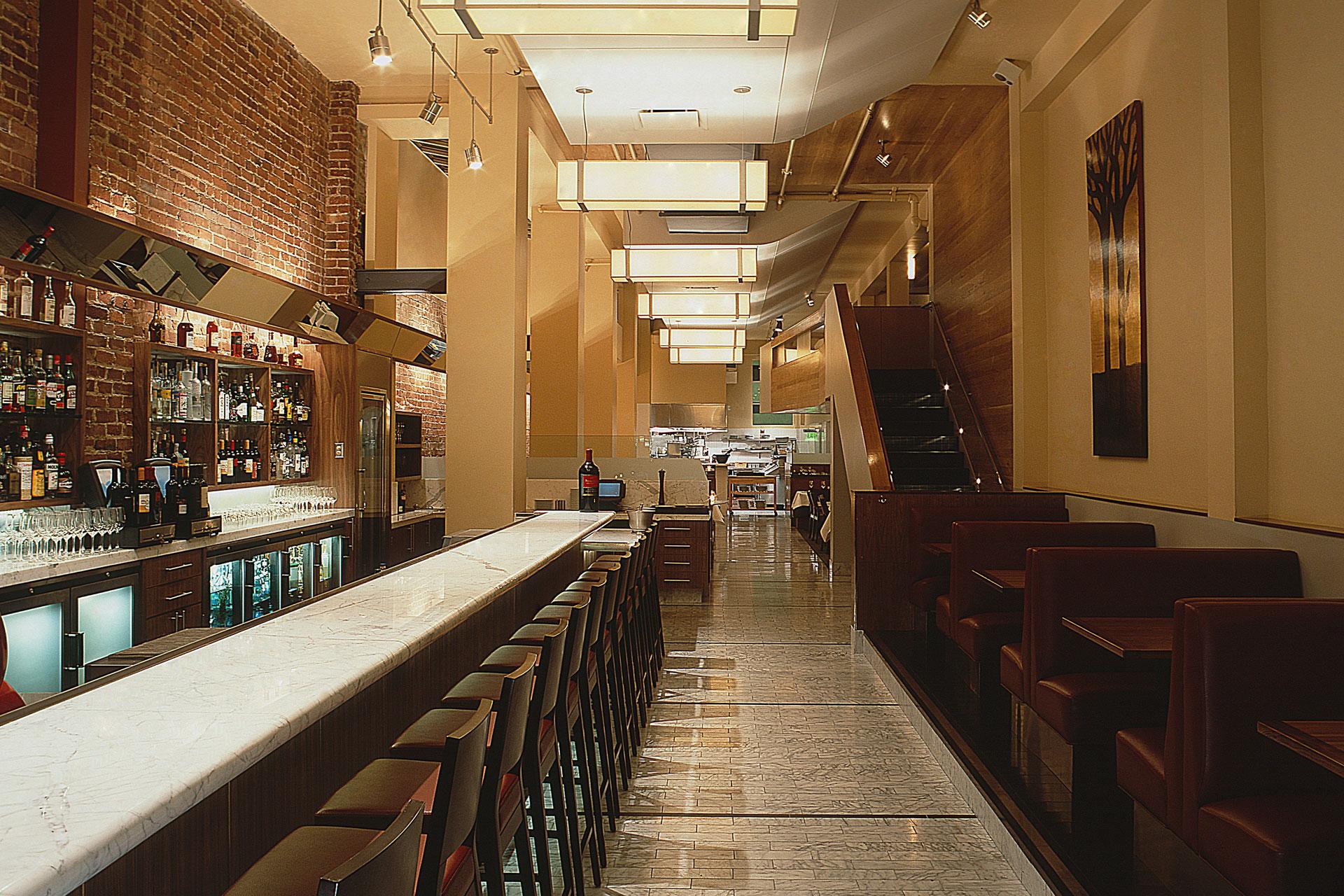 Perbacco restaurant decor