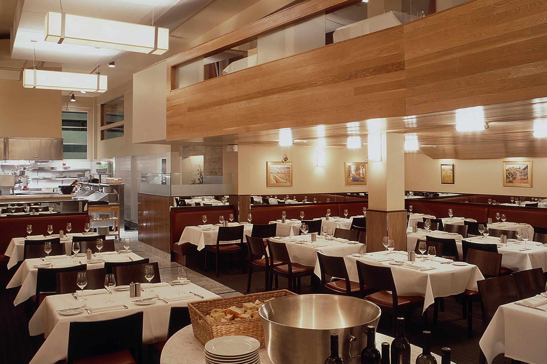 Perbacco restaurant architecture