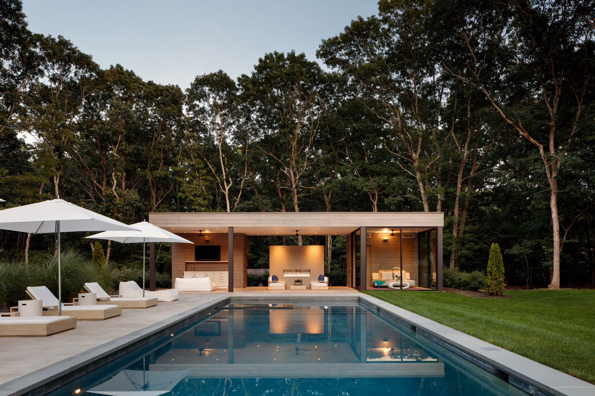 modern architecture springs-pool-house