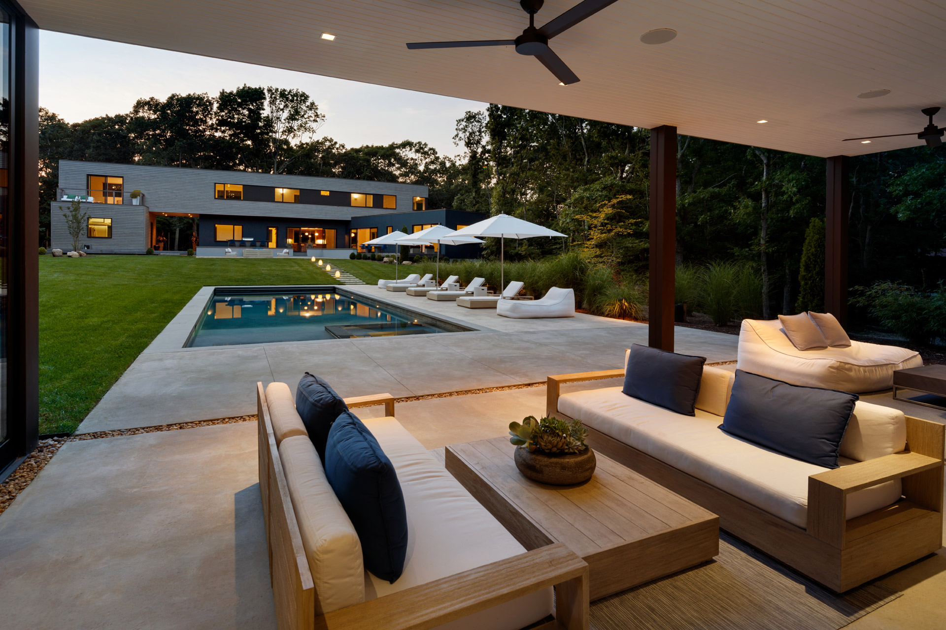 modern interior design springs-pool-house